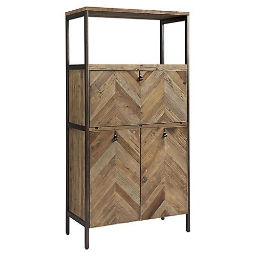 Langston Bar Cabinet, Natural