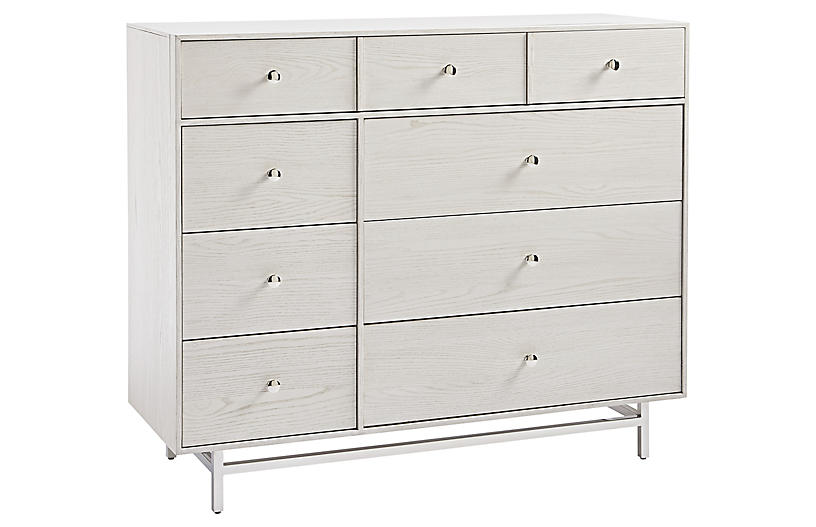 Kane 8-Drawer Dresser, Ivory