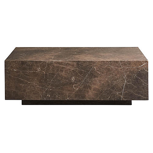 Colfax Coffee Table, Black Marble