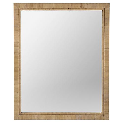 Annis Rattan Peel Mirror, Tan