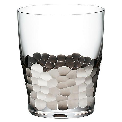 S/4 Paillette DOF Glasses, Clear/Platinum