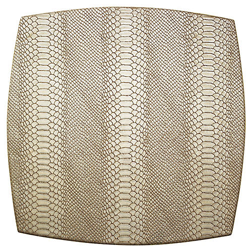 S/4 Anaconda Place Mats, Gold