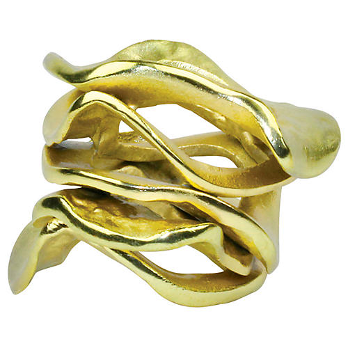 S/4 Flux Napkin Rings, Gold