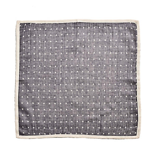 S/4 Inside Out Dinner Napkins, Gray