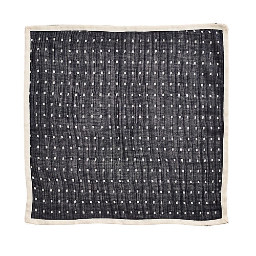 S/4 Inside Out Dinner Napkins, Navy