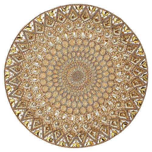 S/4 Imperial Place Mats, Champagne/Gold