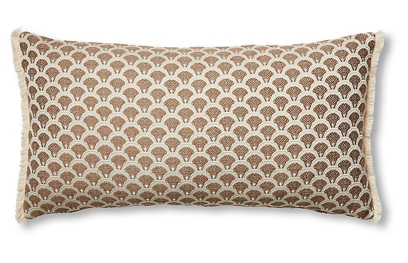 Willow 12x23 Lumbar Pillow, Yellow/Ivory