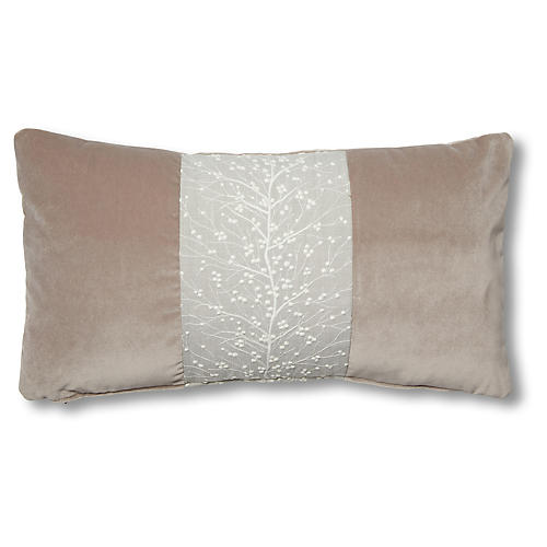 Molly 12x23 Lumbar Pillow, Vine Stripe
