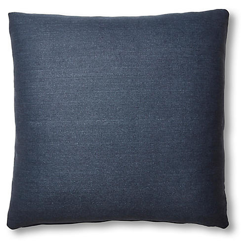 Hazel Pillow, Navy Linen