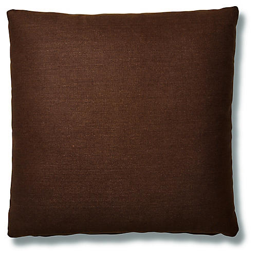 Hazel Pillow, Walnut Linen