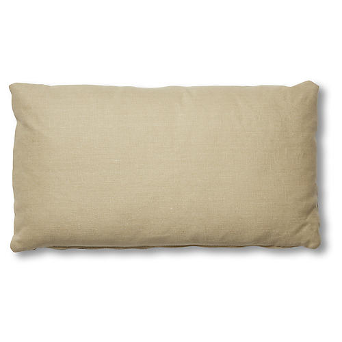 Ada Long Lumbar Pillow, Straw Linen