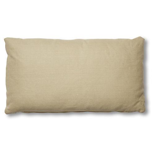 Ada Long Lumbar Pillow, Straw Linen
