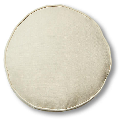 Claire 16x16 Disc Pillow, Khaki Linen