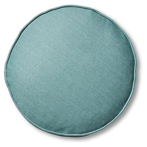 Claire 16x16 Disc Pillow, Surf Linen