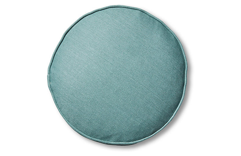 Claire 16x16 Disc Pillow, Surf Linen