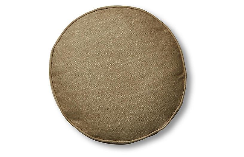 Claire 16x16 Disc Pillow, English Green Linen