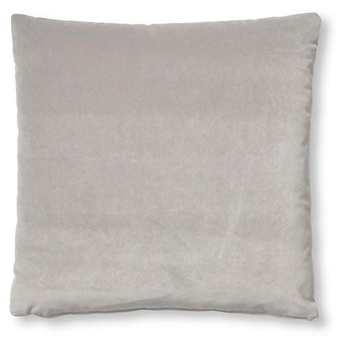 Hazel Pillow, Light Gray Velvet