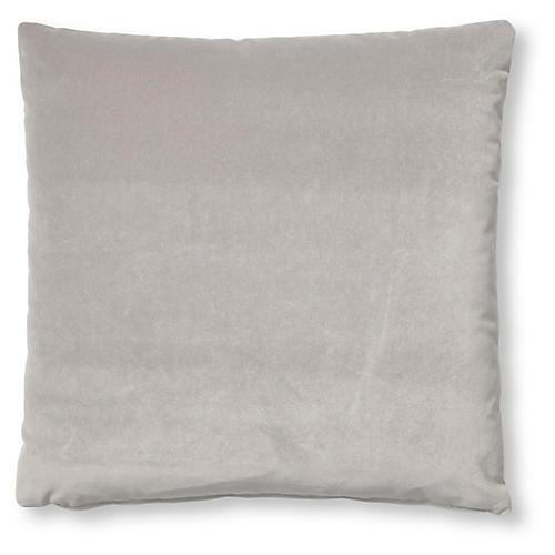 Hazel Pillow, Light Gray Velvet