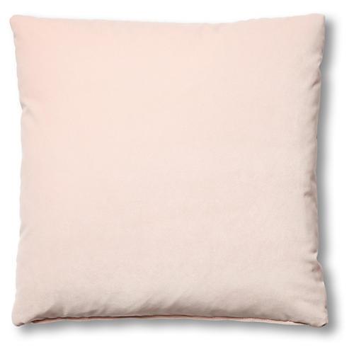 Hazel Pillow, Blush Velvet