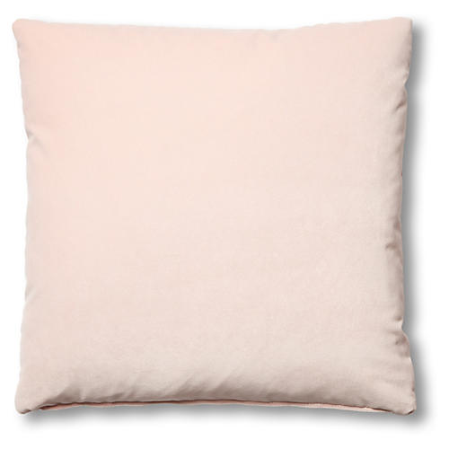 Hazel Pillow, Blush Velvet