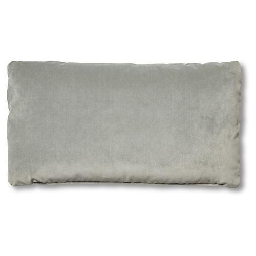Ada Long Lumbar Pillow, Mineral Velvet