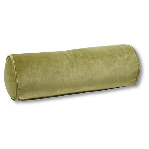 Anne Bolster Pillow, Moss Velvet