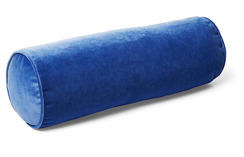 Anne Bolster Pillow, Cobalt Velvet