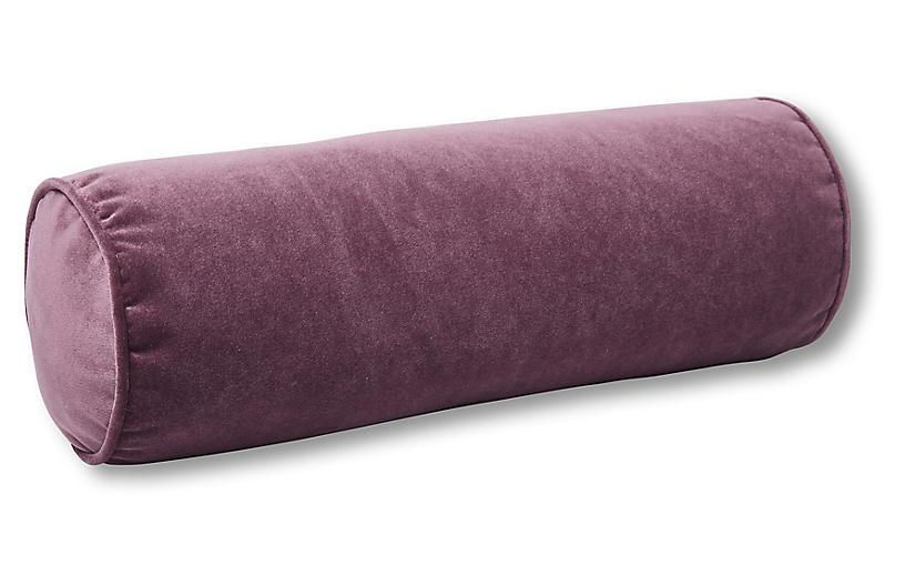 Anne Bolster Pillow, Fig Velvet