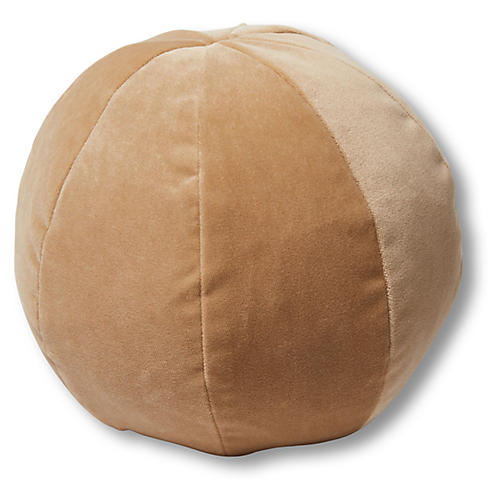Emma 11x11 Ball Pillow, Acorn Velvet