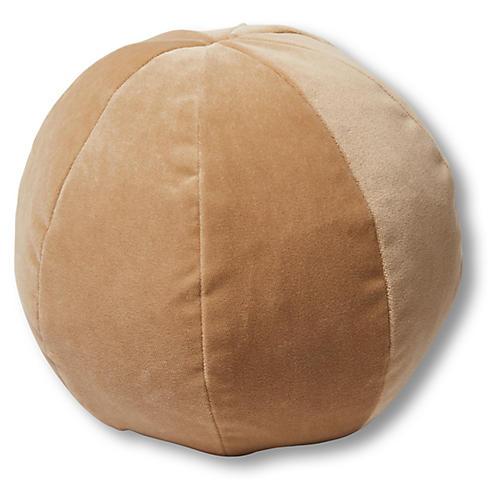 Emma 11x11 Ball Pillow, Acorn Velvet