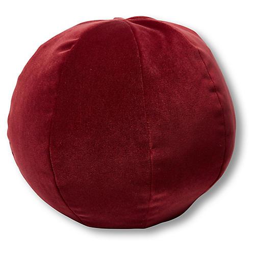 Emma 11x11 Ball Pillow, Currant Velvet