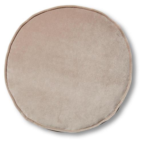 Claire 16x16 Disc Pillow, Pebble Velvet
