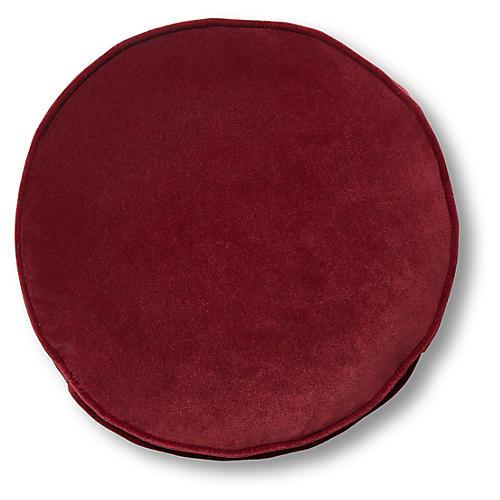 Claire 16x16 Disc Pillow, Currant Velvet