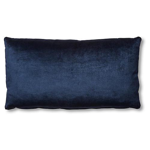 Ada Long Lumbar Pillow, Midnight Velvet