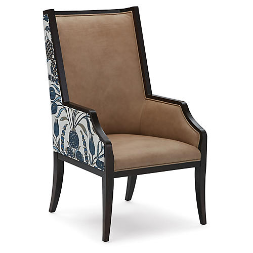 Brisbane Wingback Chair, Sand/Multi