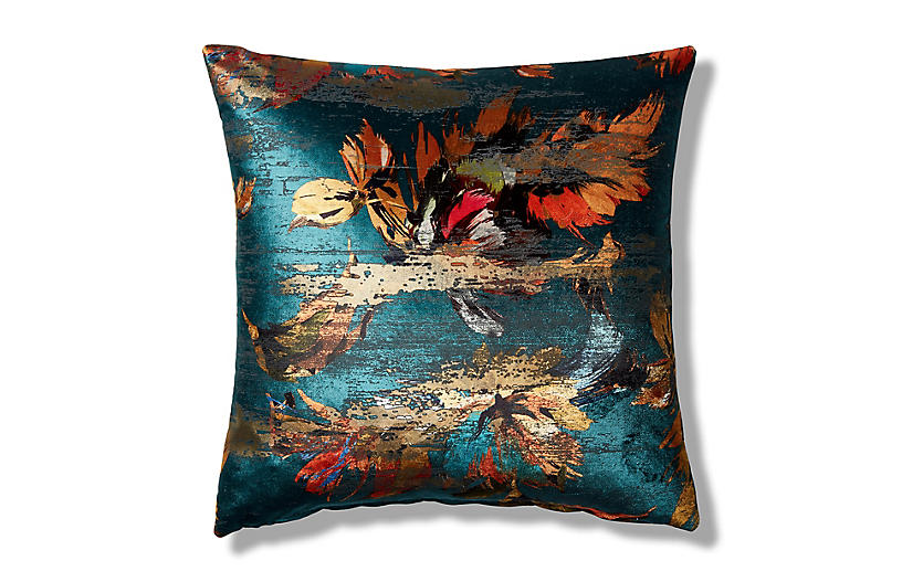 Isla 19x19 Pillow, Teal