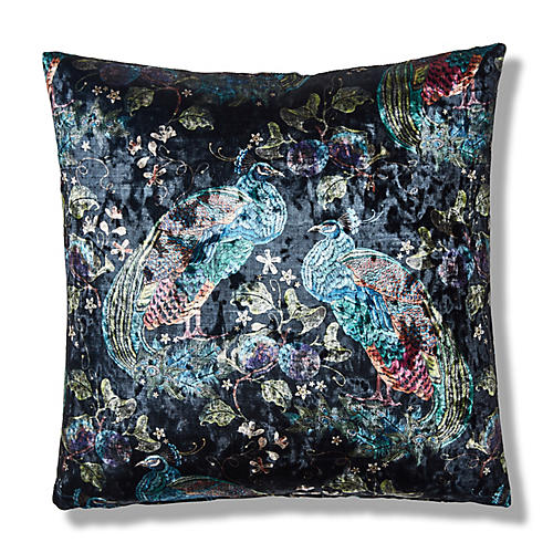 Khloe 19x19 Pillow, Black/Multi