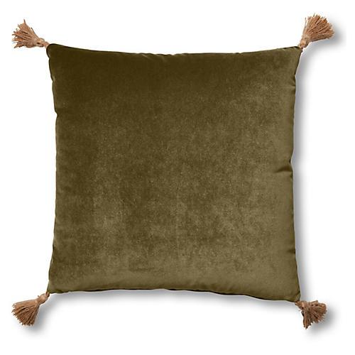 Lou 19x19 Pillow, Balsam Velvet
