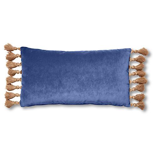 Lou 12x23 Lumbar Pillow, Cobalt Velvet