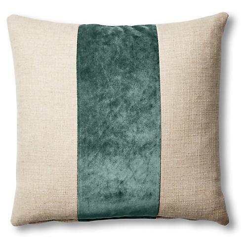 Blakely 19x19 Pillow, Natural/Jade