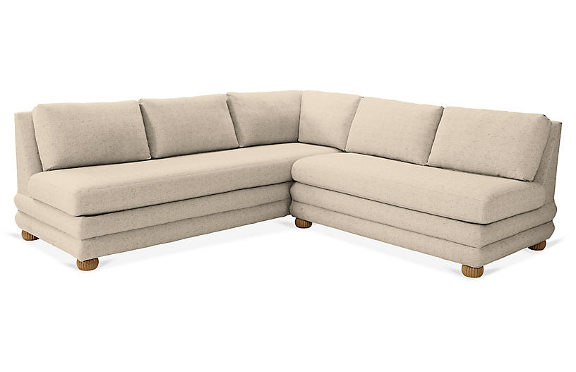 Millbrae Right-Facing Sectional, Dune Linen