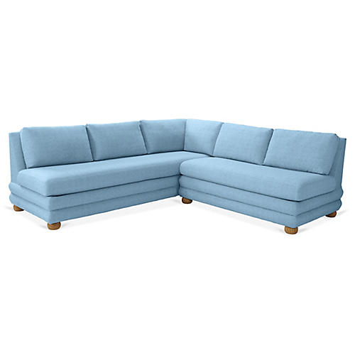 Millbrae Right-Facing Sectional, Chambray Linen