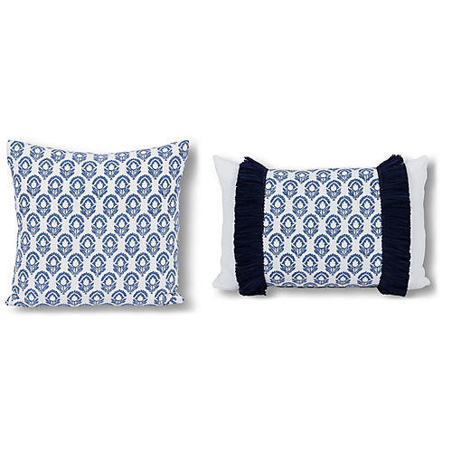 Blair Pillow Bundle, Blue Jasmine