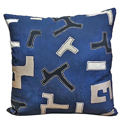 Nakia 24x24 Pillow, Indigo/Multi