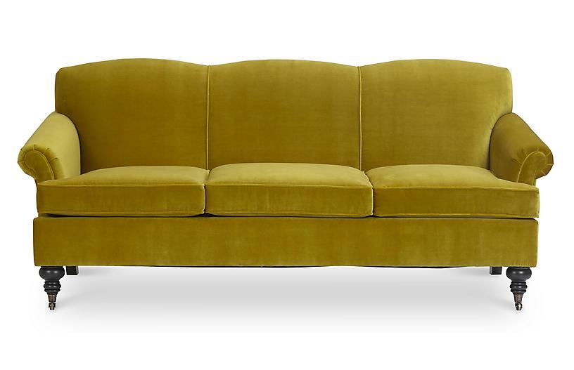 Joplin Sofa, Citrine Velvet