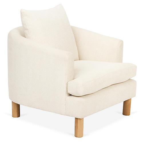 Brooklyn Chair, Ivory/Cream Crypton