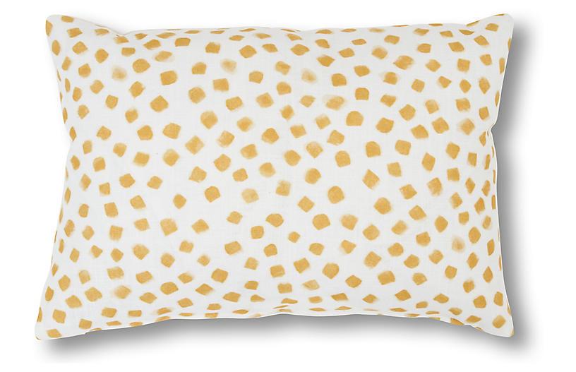 Ceila 14x20 Lumbar Pillow, Yellow/Ivory