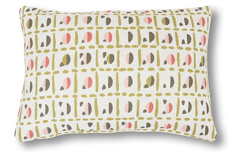 Helene 14x20 Lumbar Pillow, Olive/Blush