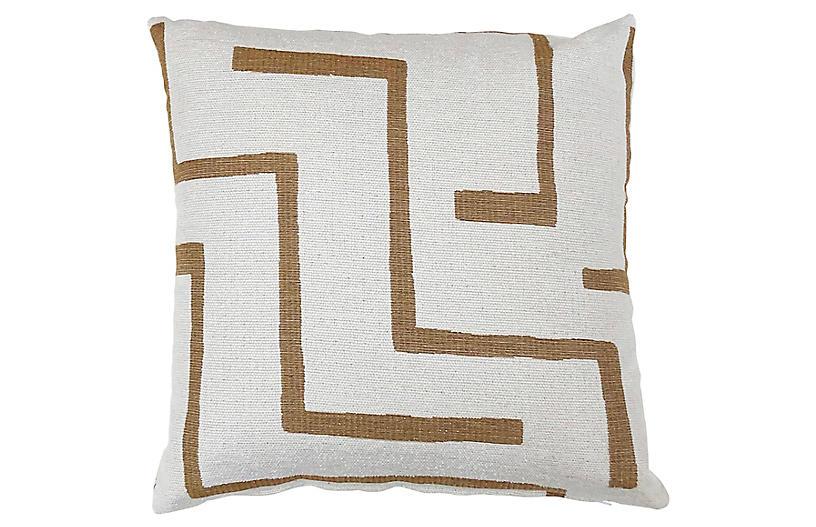 Olivia 20x20 Pillow, Brown