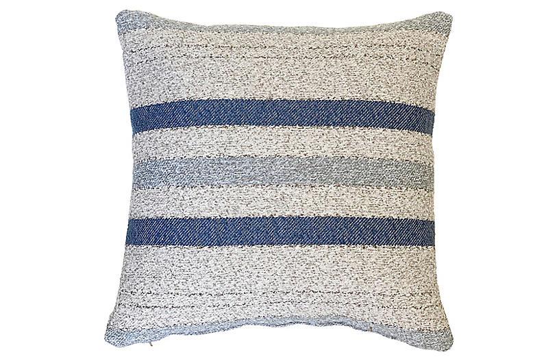 Willow 22x22 Pillow, Blue